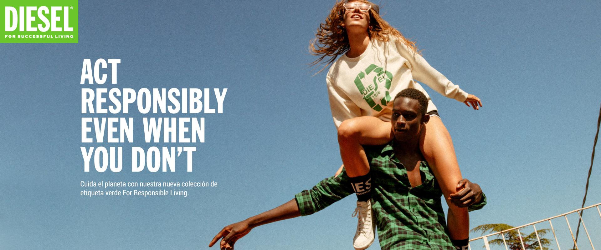 Colección sostenible Diesel Ropa para Hombre Mujeres y niños